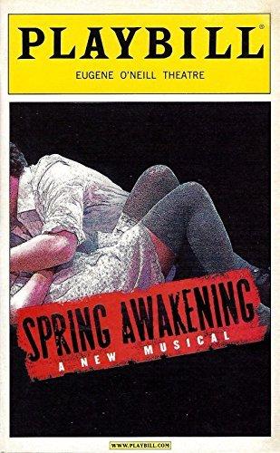 "Lea Michele ""SPRING AWAKENING"" Jonathan Groff / John Gallagher Jr. 2006 Broadway Preview Playbill"