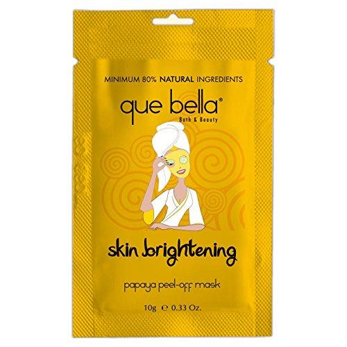 Que Bella Skin Brightening Peel-Off Mask Papaya 0.5oz, pack of 1