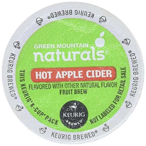 Green Mountain Naturals Hot Apple Cider, K-Cup Portion Pack for Keurig K-Cup Brewers, 24-Count (Pack of 2) (Apple Green Natural)