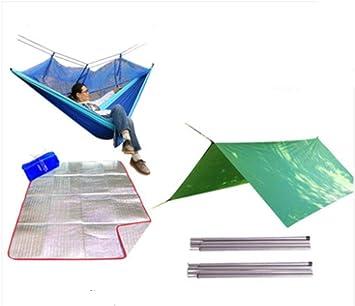 oanzryybz Pabellón multifunción al Aire Libre 100% a Prueba de Lluvia Protector Solar Playa pérgola Sombra Carpa Alfombra a Prueba de Humedad Estera del Piso@Azul_Traje 1: Amazon.es: Deportes y aire libre
