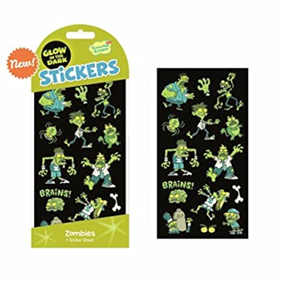 Peaceable Kingdom Glow in The Dark Stickers - Zombies - Art, Craft & Room Decoration: Toys & Games