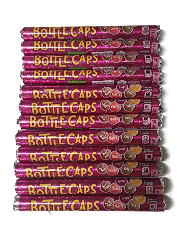 Wonka Bottle Caps Soda Pop Candy 12 Rolls (Soda Pops Candy compare prices)