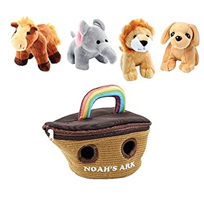 Animal House Noah's Ark Plush Animals Sound Toys with Carrier | Plush Animal Toy Baby Gift | Toddler Gift: Toys & Games