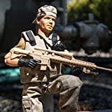 Army Toys Action Figure by World Peacekeepers - Collectible 12 Inch Military Action Figure Army Man - Army Men Toys w/ 6 Accessories - Sniper (Desert)