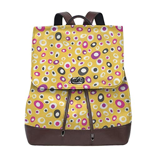 Fashion Leather Backpack Bouquet Dot Purse Waterproof Anti Rucksack PU Leather Bags
