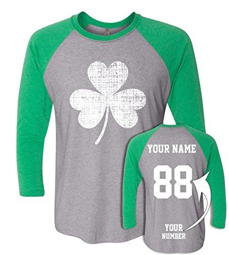 Custom Jerseys St Patrick's Day T Shirts ☘ Saint Pattys Baseball Raglans Irish Outfits ☘