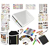 Polaroid ZIP Mobile Printer Gift Bundle ZINK 9 Unique Colorful Sticker Sets Pouch Twin Tip Markers Accessories