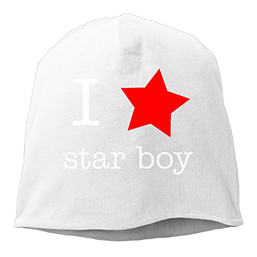 [YUVIA Starboy Men's&Women's Patch Beanie SkatingWhite Caps For Autumn And Winter] (Daft Punk Without Costumes)