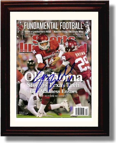 - Framed Oklahoma Sooners Sam Bradford Sports Illustrated Autograph Photo Print