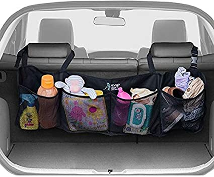 Car Trunk Storage >> Trunk Organizer For Car And Suv Keep Your Trunk Tidy And Organized With Ease Space Saving Cargo Net Design With 4 Large Pockets Lightweight