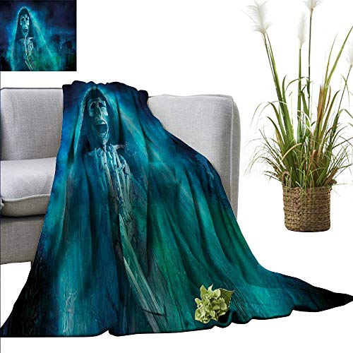 (WinfreyDecor Throw Blanket Hotel Quality Halloween All Season Use Gothic Ghost)