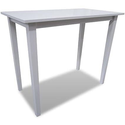 vidaXL Tavolo da bar rettangolare cucina sala da pranzo in legno ...