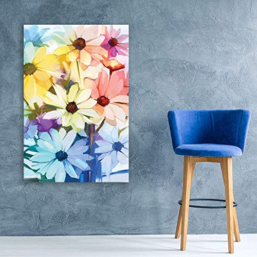 Oil Painting Style Various Colored Flowers