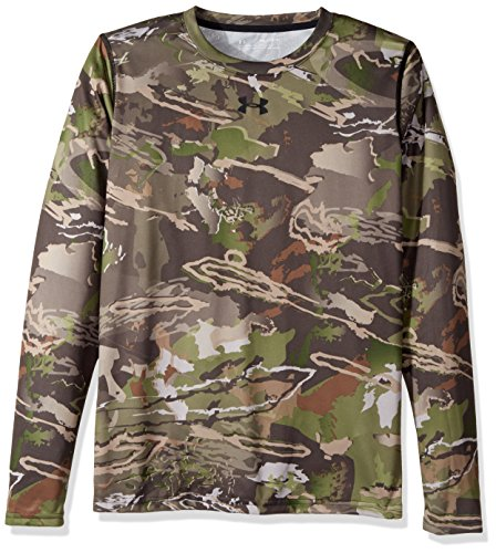 (Under Armour Boys Scent Control Tech Long Sleeve Top,Ridge Reaper Camo Fo /Black, Youth Large)