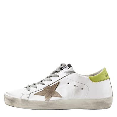18bfcb1de2a6d Image Unavailable. Image not available for. Color: Golden Goose Deluxe  Brand Women Superstar Low Top Sneakers White Light Green ...
