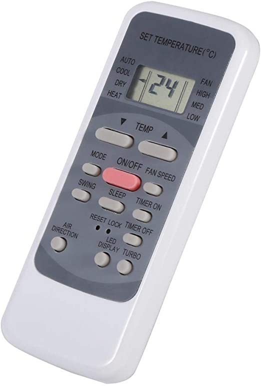 E R51M CE R51D E R51 T/él/écommande de Remplacement pour climatiseur s/érie Midea R51 R51 CE R51M Compatible pour Toshiba Electrolux Conia VESTEL QUUL Lasko NASCO BGE