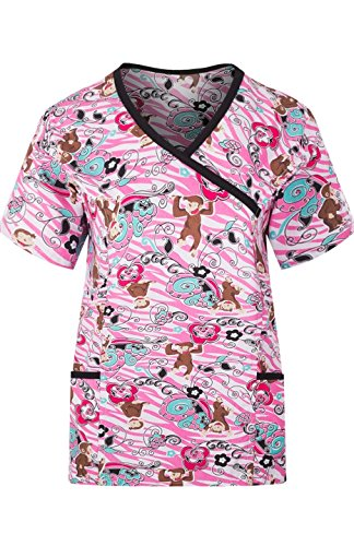 MedPro Womens Multicolored Print Medical