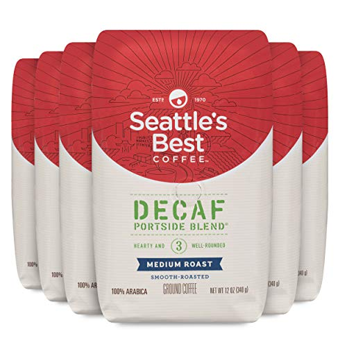 Seattle's Best Coffee Decaf Portside Blend Medium Roast Ground Coffee, 12 Ounce (Pack of 6)