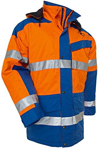 Blakläder 442619975385XXL High Vis Parka Hiver class 3 Taille XXL Orange/Bleu