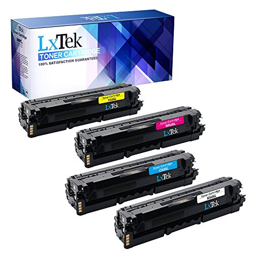 LxTek Compatible Toner Cartridge Replacement Combo Set For Samsung 505L (1 Black| 1 Cyan| 1 Magenta| 1 Yellow) CLT-K505L CLT-C505L CLT-M505L CLT-Y505L For use in Samsung C2620DW C2670FW Laser Printer