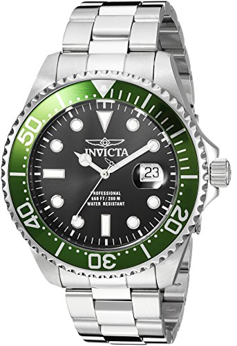 Invicta Men's 'Pro Diver' Quartz Stainless Steel Diving Watch, Color:Silver-Toned (Model: 22822) by Invicta