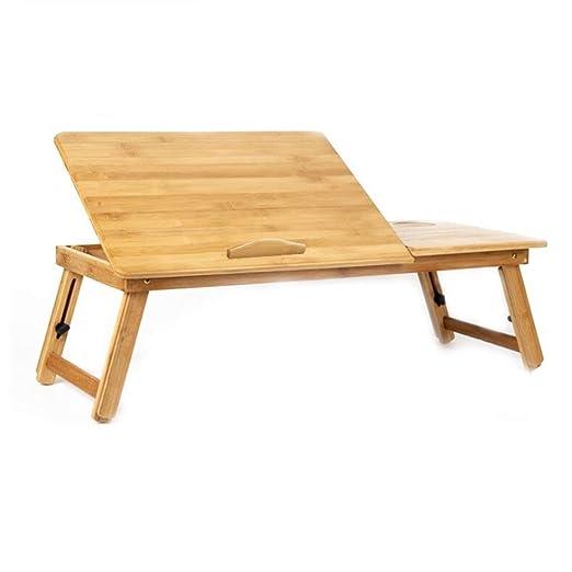 GYYZDZ Escritorio Plano De Bambú, Levante Plegable, Mesa De ...