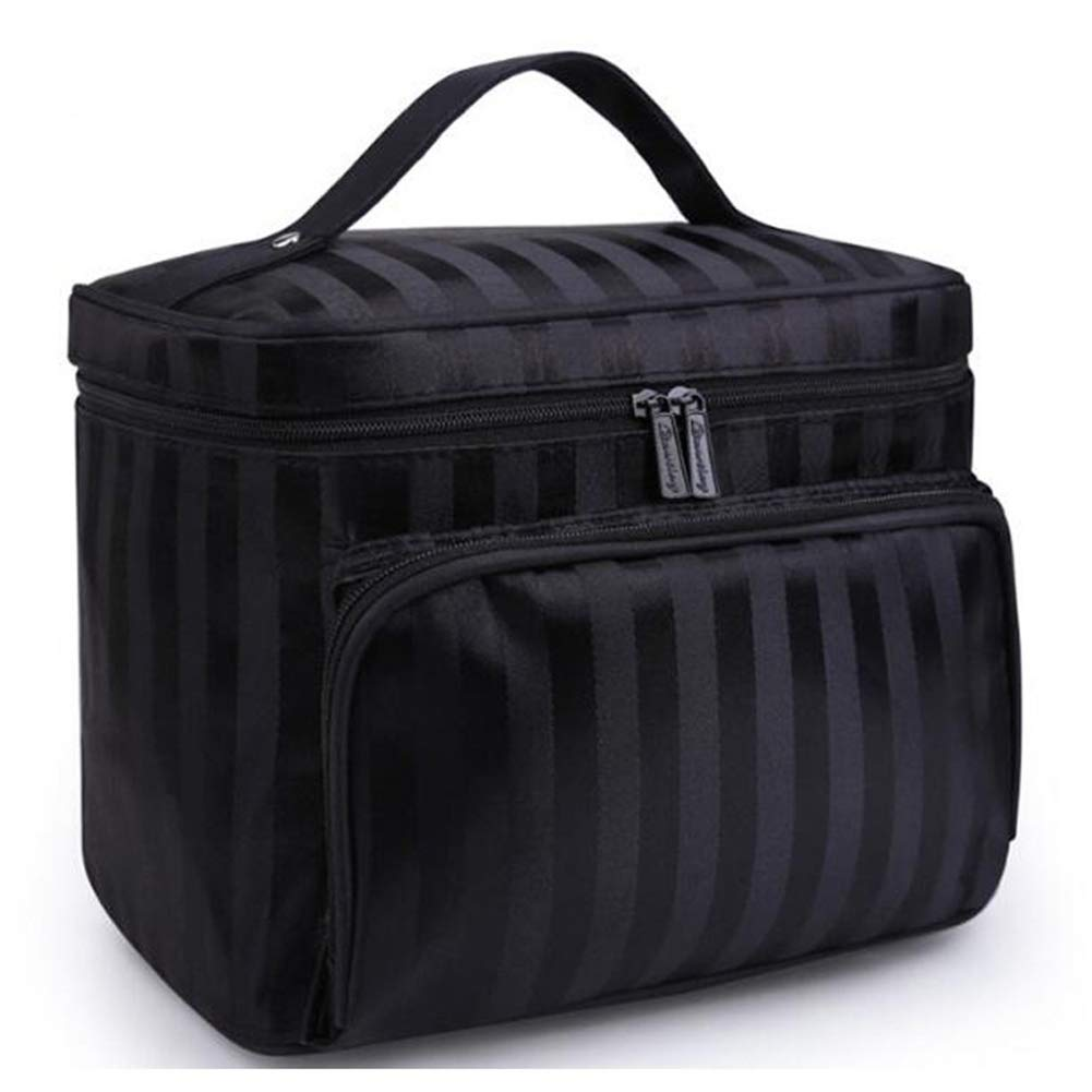 fc1c7c3b8bf7 Amazon.com : Woman Cosmetic Bags Striped Pattern Organizer Makeup ...
