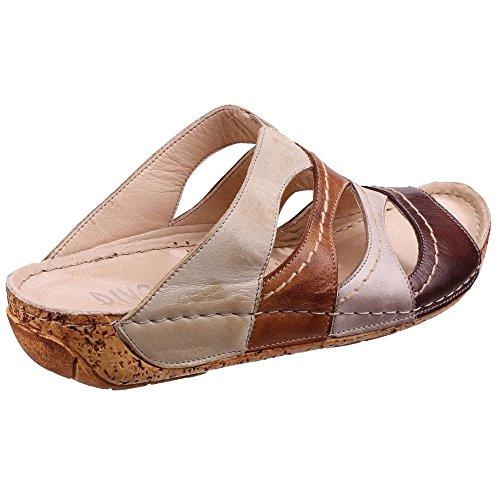 Riva - Sandalias de vestir de Piel para mujer marrón
