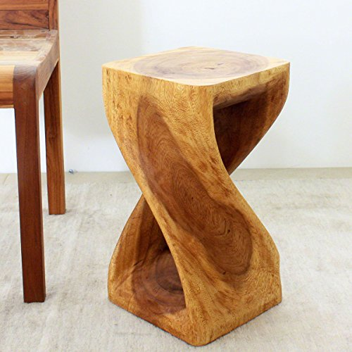 Contemporary Traditional End Table (Twisted Oak Table Stool Thai Traditional or Contemporary Style )