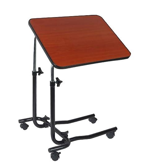 WDDMFR Mesa Auxiliar, Mesa para Laptop Tablero de Fibra Ajuste de ...