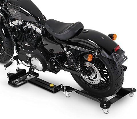 Schwarz L/ängenverstellbar Rangierhilfe Seitenst/änder Hinterrad ConStands Motomover III FLHT Motorrad Rangierschiene f/ür Harley Davidson Electra Glide Standard