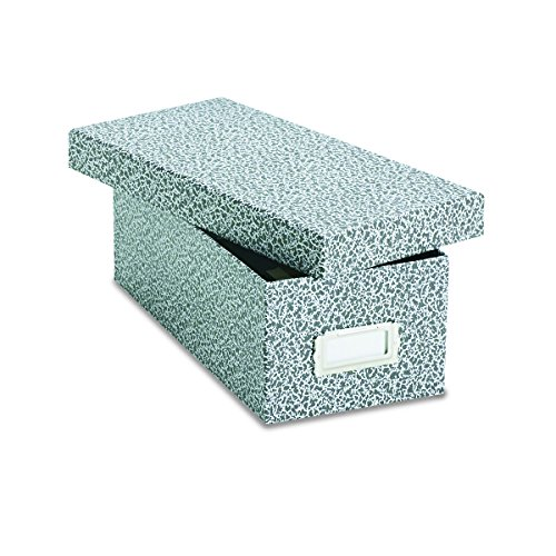 Index Card File (Oxford 40588 Reinforced Board Card File, Lift-Off Cover, Holds 1,200 3 x 5 Cards, Black/White)
