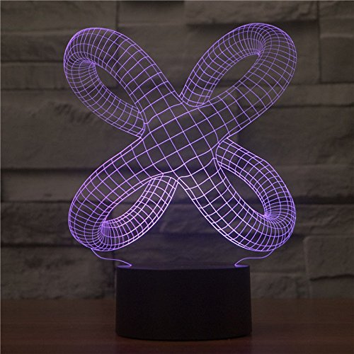 Comics+3D+Night+Lamp+ Products : Abstract Shape Desk Table Lamp 3D Led Night Light 7 Colors Change Touch Switch