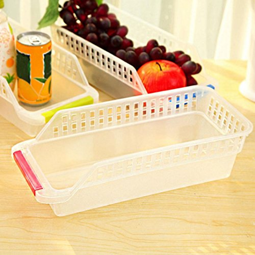 Clearance Sale!DEESEE(TM)Kitchen Refrigerator Space Saver Organizer Slide Shelf Rack Rack Holder Storage