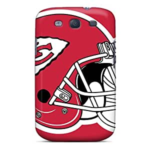 Shockproof Cell-phone Hard Covers For Samsung Galaxy S3 With Unique Design High Resolution Kansas City Chiefs Image TimeaJoyce
