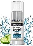Eye Wrinkle Cream By Derma-nu - Anti Aging Eye Gel Treatment for Dark Circles, Puffiness & Wrinkles - Peptide Collagen Building Formula - Hyaluronic Acid & Amino Acid - .5oz