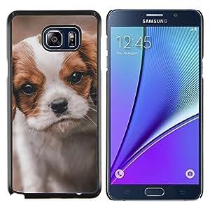 LECELL--Funda protectora / Cubierta / Piel For Samsung Galaxy Note 5 5th N9200 -- Cavalier King Charles Puppy Dog Vignette --