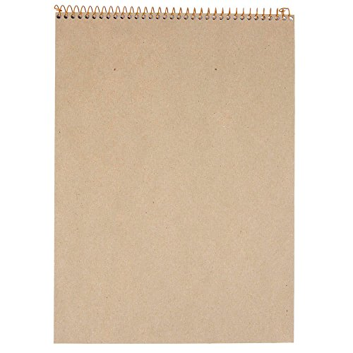 TableTop King 20-815 Gold Fibre 8 1/2'' x 11 3/4'' Wide Ruled Perforated Wirebound Planner Pad with Navy Cover - 12/Pack by TableTop King (Image #1)