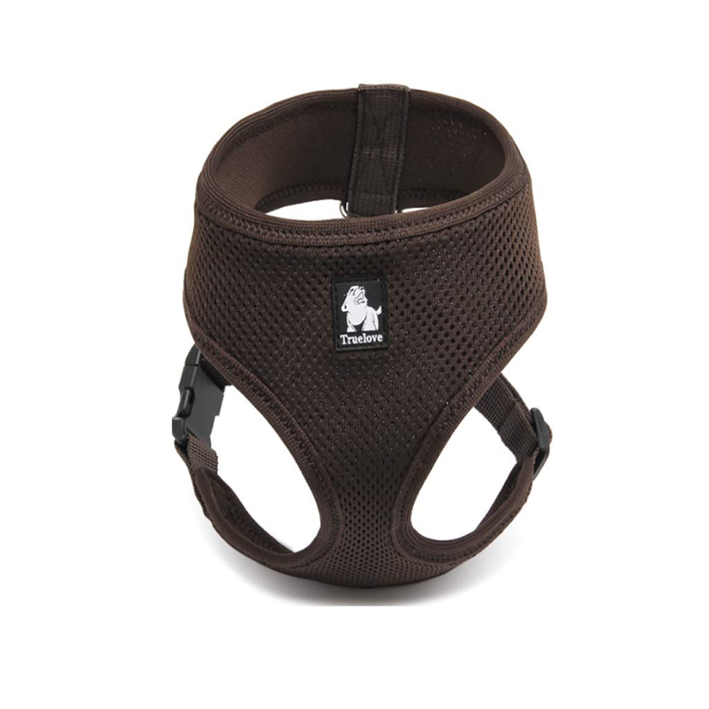 BROWN L BROWN L Light Luxury, Comfortable, Breathable Dog, Dog Chest Back,Small and Medium Dog Strap,Comfortable Interior, Convenient and Stylish (color   Brown, Size   L)