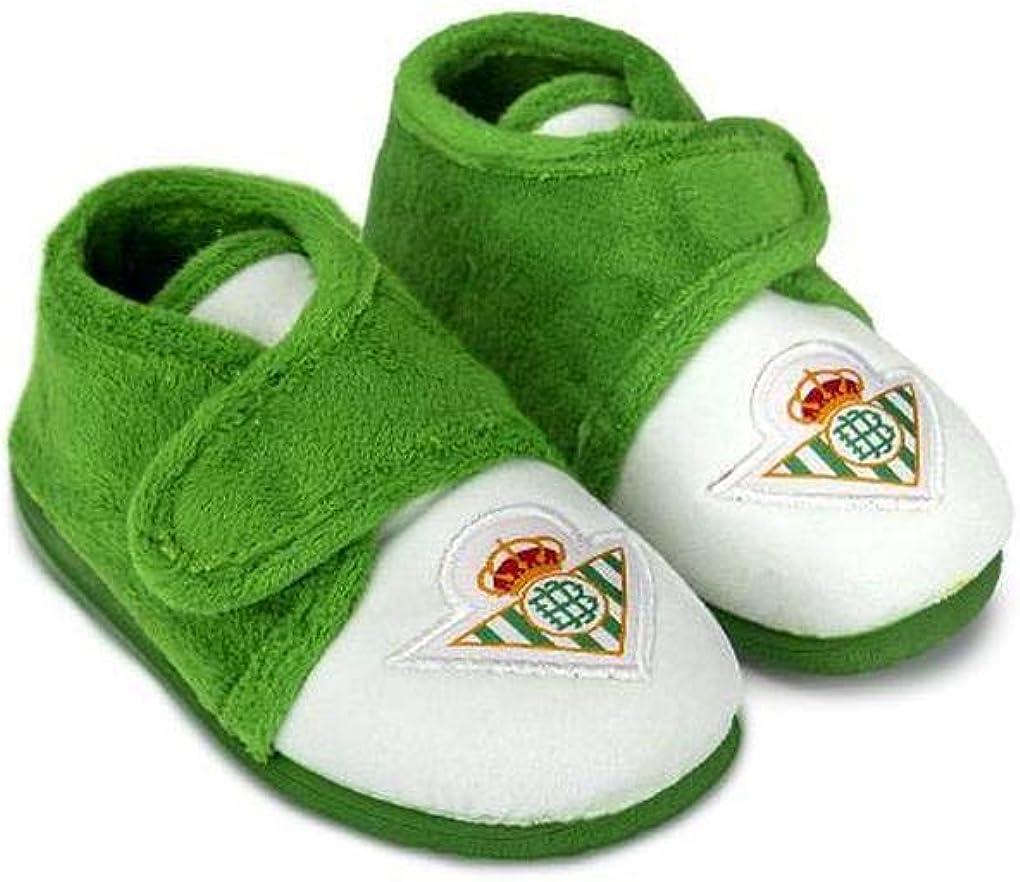 Zapatillas Betis Ni/ño Bot/ín Escudo Zapatillas de Estar por casa ni/ño Invierno Oto/ño