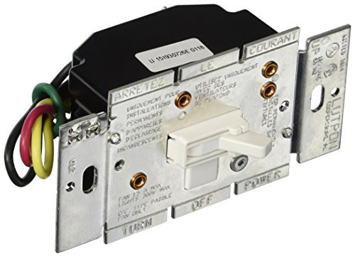 Lutron Electronics Co. AY2-LFSQ-WH Ariadni/Toggler Quiet Light and Fan Control, White by (Ariadni Fan Control)