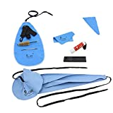 Andoer LADE 10-in-1 Saxophone Cleaning Care Kit Belt Cork Grease Thumb Rest Cushion Reed Case Mouthpiece Brush Mini Screwdriver Cleaning Cloth