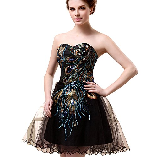 Favebridal 2015 Women's Short Cocktail Dress Prom Party Gown FSD039BK-US14