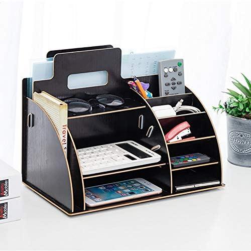 Caishuirong Magazine Sorter Regal Office Desktop Storage Box Datei-Regal kreative Bücherregal Informationen Regal aus Holz Lagerung und Display Rack Bürobedarf für Büro (Color : A, Size : 33x25x19cm)