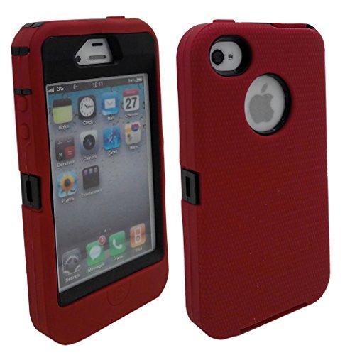 iphone 4s case bumper red - 9