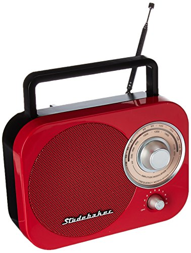 JENSEN SB2000RB Portable AM/FM Radio in Red (Am Kitchen Radio Ipod Fm)