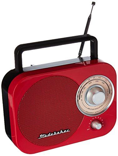 JENSEN SB2000RB Portable AM/FM Radio in Red (Fm Radio Am Ipod Kitchen)