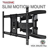 """TEXONIC XP6 Universal Full Motion. Fully Adjustable TV Wall Mount; Fix, Extend, Fold, Rotate and Tilt (Fit Most 40""""-70"""" Flat Panel LED, LCD TVs)"""