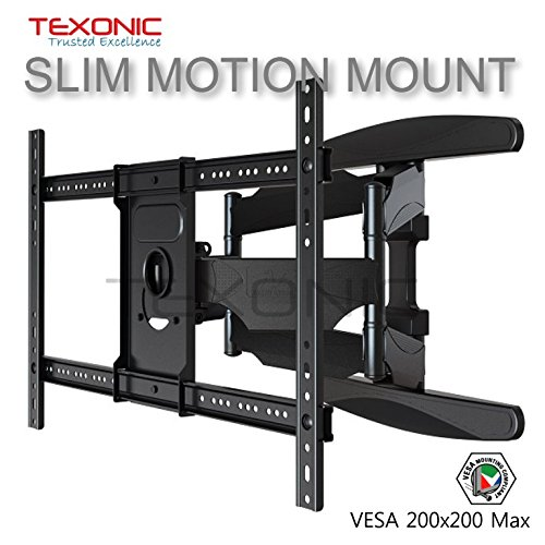 TEXONIC XP6 Universal Full Motion. Fully Adjustable TV Wall Mount; Fix, Extend, Fold, Rotate and Tilt (Fit Most 40-70 Flat Panel LED, LCD TVs)