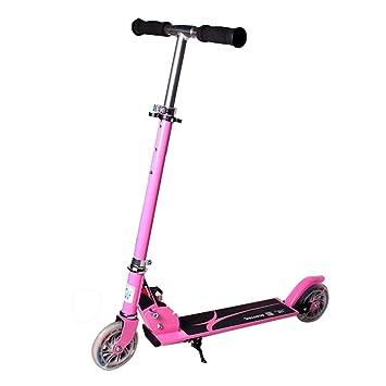 HTOOLA Scooter de Dos Ruedas para niños Mini Micro T-Bar Carry Ligero Kickboard LED Wheel,A: Amazon.es: Deportes y aire libre